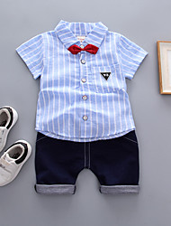 cheap -Kids / Toddler Boys' Solid Colored Short Sleeve Clothing Set