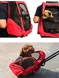 preiswerte -Hunde Katzen Transportbehälter &Rucksäcke Haustiere Träger Tragbar Atmungsaktiv Reise Solide Purpur Rot Grün