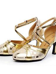 cheap -Women's Modern Shoes Cowhide Heel Slim High Heel Dance Shoes Gold / Black / Silver / Performance / Practice