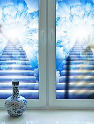 Недорогие -Оконная пленка и наклейки Украшение Современный 3D-печати ПВХ Матовое стекло Водоотталкивающие