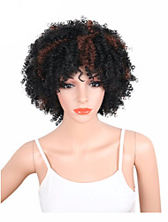 cheap -Synthetic Wig Curly Pixie Cut / Middle Part Synthetic Hair Heat Resistant / New Arrival / African American Wig Black / Brown Wig Women's Short Capless / Yes