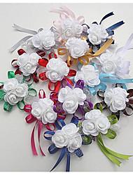 abordables -Fleurs de mariage Petit bouquet de fleurs au poignet Mariage / Occasion spéciale Soie / Mousse 0-10 cm