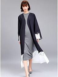 baratos -Mulheres Sofisticado Moda de Rua Reto Túnicas balanço Vestido Geométrica Estampa Colorida Longo