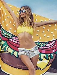 Недорогие -Свежий стиль Пляжное полотенце, Простой / Мода Высшее качество Вискоза / полиэфир Полиэфирная смесь 1pcs