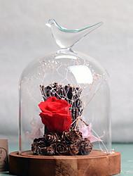 baratos -Flores artificiais 1 Ramo Estiloso Rosas Flor de Mesa