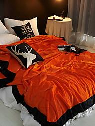 Недорогие -Коралловый флис, Активный краситель 3D-печати Хлопок / полиэфир одеяла