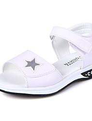 Недорогие -Девочки Обувь Дерматин Весна лето Удобная обувь Сандалии Пряжки для Белый / Розовый