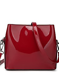 cheap -Women's Bags Patent Leather Shoulder Bag Zipper Blue / Black / Red