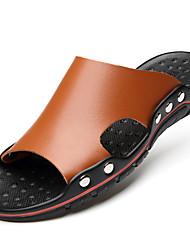 cheap -Men's Faux Fur Summer Comfort Sandals Black / Brown / Blue