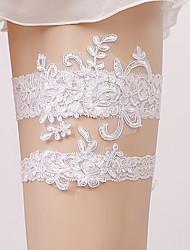 baratos -Renda Estilo vintage Wedding Garter  -  Renda / Elástico Ligas Casamento / Festas & Noite