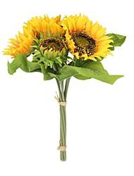 cheap -Artificial Flowers 7 Branch Modern / Contemporary / Pastoral Style Sunflowers / Eternal Flower Tabletop Flower