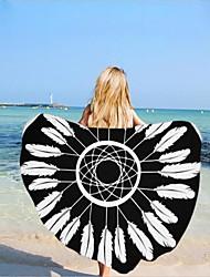 Недорогие -Высшее качество Пляжное полотенце, Рисунок Полиэстер / Хлопок 1 pcs