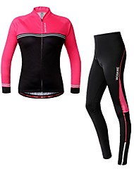 cheap -WOSAWE Long Sleeves Cycling Jersey with Tights - Fuchsia Bike