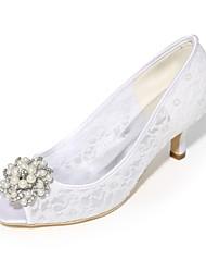 economico -Per donna Scarpe A maglia Primavera estate Decolleté scarpe da sposa Kitten Punta aperta Con diamantini / Perle di imitazione Blu / Rosa