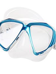 abordables -TUO Masque de Snorkeling / Masque de Nage Anti buée Deux-fenêtre - Natation, Plongée Caoutchouc silicone - pour Adultes Jaune / Rouge /