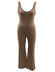 cheap -Women's Street chic Jumpsuit - Solid Colored, Backless