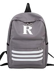 cheap -Women's Bags Nylon Backpack Zipper Black / Blushing Pink / Gray