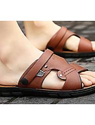 cheap -Men's PU(Polyurethane) Summer Comfort Sandals Orange / Brown / Blue