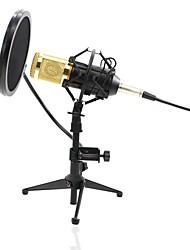 baratos -KEBTYVOR BM800+PC03+Pop Filter PC / Com Fio Microfone KIT Microfone Condensador Microfone Portátil Para Microfone de Computador