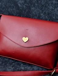お買い得  -女性用 バッグ PUレザー ショルダーバッグ ジッパー のために ショッピング / お出かけ イエロー / フクシャ / ライトパープル