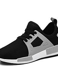 Недорогие -Жен. Обувь Тюль Лето Удобная обувь Спортивная обувь Беговая обувь На плоской подошве Закрытый мыс Белый / Черный / Серый