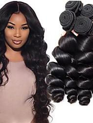 cheap -Indian Hair / Loose Wave Wavy Natural Color Hair Weaves / Extension / Human Hair Extensions Human Hair Weaves Easy dressing / Hot Sale /