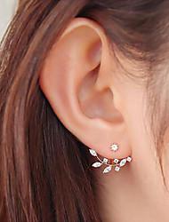 abordables -Femme Boucles d'oreille goujon - Forme de Feuille, Fleur, Botanique Doux Or / Argent Pour Quotidien / Plein Air