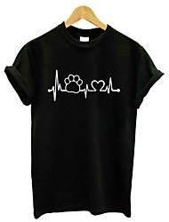 economico -T-shirt Per donna Attivo / Essenziale Fantasia geometrica