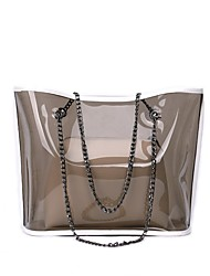 baratos -Mulheres Bolsas PVC Conjuntos de saco Ziper Azul / Preto / Rosa