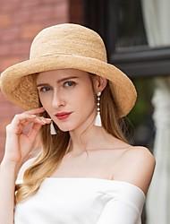 abordables -Fibre naturelle Chapeaux avec Noeud 1pc Décontracté / Usage quotidien Casque