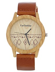 cheap -Women's Bracelet Watch Chinese Casual Watch / Large Dial PU Band Vintage / Creative Black / Brown / One Year
