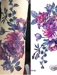 Недорогие -3 pcs Временные тату Временные татуировки Тату с цветами / Романтическая серия Искусство тела рука