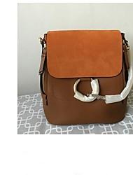 cheap -Women's Bags PU(Polyurethane) Backpack Buttons / Zipper Gray / Brown