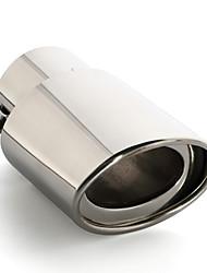 abordables -1 Pièce 76mm Tuyaux d'échappement Unbent Acier Inoxydable Silencieux d'échappement For Honda Élysée / Crider / Accord 9 Toutes les Années