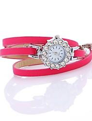 abordables -Femme Bracelet de Montre Chinois Imitation de diamant / Montre Décontractée Polyuréthane Bande Bohème / A Perles Noir / Blanc / Bleu