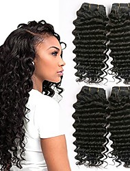 cheap -Malaysian Hair Wavy Human Hair Weaves 50g x 4 Hot Sale Extention Human Hair Extensions All Christmas Gifts Christmas Wedding Party