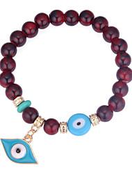 baratos -Pulseiras Strand - Olho Maligno Europeu, Fashion Pulseiras Preto / Vermelho / Azul Para Diário
