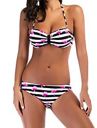 abordables -Femme Bikinis - Imprimé, Rayé / Animal Slip Brésilien