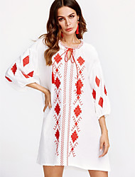 cheap -TS - Dreamy Land Women's Cotton Sheath Dress Sweetheart Neckline