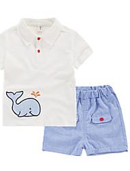 Недорогие -Дети / Дети (1-4 лет) Универсальные Пэчворк С короткими рукавами Набор одежды