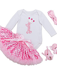 cheap -Baby Girls' Solid Colored Long Sleeves Clothing Set