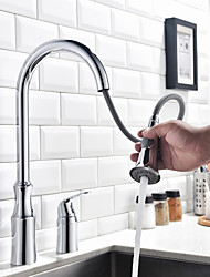 cheap -Kitchen faucet - Contemporary Chrome Tall / High Arc Widespread