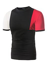 baratos -Homens Camiseta Activo Básico Estampa Colorida