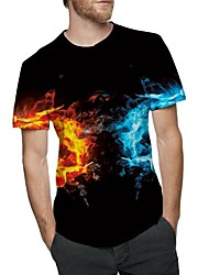 cheap -Men's Cute T-shirt - Paisley Print