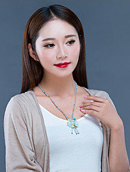 cheap -Women's Jade Pendant Necklace - Floral / Botanicals, Flower Elegant Transparent 52 cm Necklace Jewelry For Gift, Daily