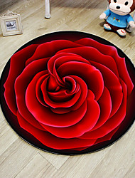 cheap -Area Rugs Casual Polyster, Round Superior Quality Rug / Non Skid
