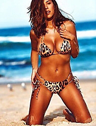 cheap -Women's Bikini - Leopard Backless Cheeky