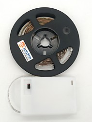 Недорогие -ZDM® 1m Гирлянды 300 светодиоды 2835 SMD Тёплый белый / Холодный белый Можно резать / Подсветка для авто / Самоклеющиеся Аккумуляторы AA 1шт