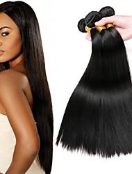 baratos -Cabelo Peruviano Liso Extensões de Cabelo Natural Tramas de cabelo humano extensão / Venda imperdível Preto Natural Todos