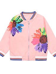 cheap -Kids Girls' Floral Long Sleeves Jacket & Coat